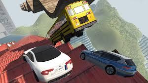 Death Falls School Bus, Car, and Truck Crash Tests! - BeamNG Drive ...