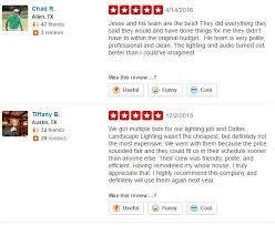 dallas landscape lighting yelp reviews