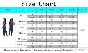 Womens Jumpsuit Size Chart 2019 Womens Sexy Strap Backless Skinny Denim Rompers Womens Jumpsuits Fashion Sleeveless Bodycon Bandage One Piece Jeans For Female From Topfashion88