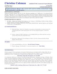 sample property manager resume commercial property manager resume sample resumes  front of house manager resume sample