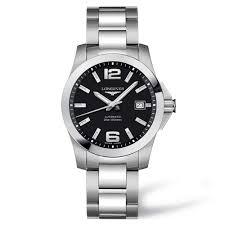longines men s automatic conquest 300m steel bracelet watch men 039 s automatic conquest 300m steel bracelet watch