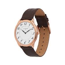 leather strap watches for men links of london narrative mens rose gold plate brown leather mens watch