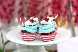 style cupcakes complete with the cherry on top