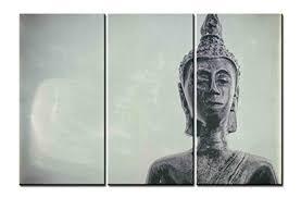 Buddha Head Decor Fingertip Art Wall Art Paintings 3 Pieces Decor Art Of Big