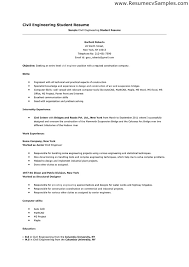Ideas of Sample Resume For Civil Engineering Student For Reference
