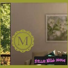 coffee coaster border letter m monogram letters vinyl wall decal sticker mural quotes words mg003m swd