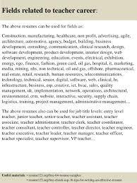Sample Resume For Teachers Job Top 8 Teacher Resume Samples