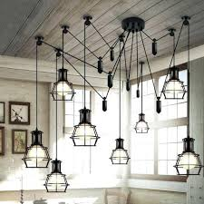 rustic industrial lighting multi head work lamp cage chandelier rustic industrial bathroom vanity lighting