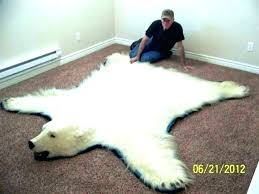 bear rug faux synthetic bear skin rug faux polar fur furniture s area rugs gy