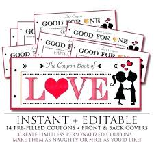 Free Printable Love Coupons For Him Template Coupon Book Of