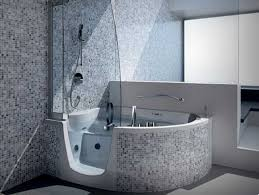 wonderful corner walk in tubs and showers combo with mosaic tile tub shower combination decorations 8