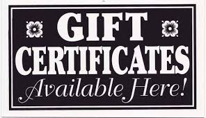 Gift Certificate Sign Items Similar To Gift Certificate Sign Available Here On Etsy
