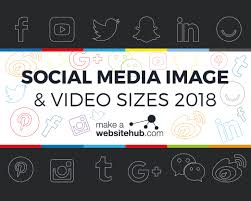2018 social a image sizes cheat sheet