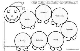 Hungry Caterpillar Coloring Pages New Very Hungry Caterpillar