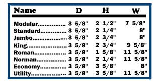 Brick Sizes Chart Brick Lakeshore Cement Products