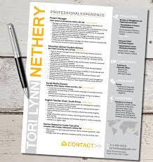 The Tori Lynn Resume Design Template Travel For By Vivifycreative