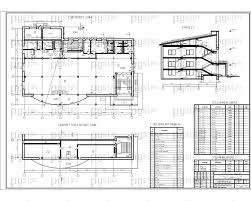 Скачать бесплатно дипломный проект ПГС Диплом № Торговый  4 План 1 этажа фрагмент плана 3 этажа разрез jpg