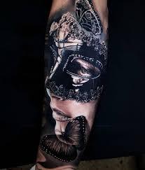 тату маска 100 фото готовых работ эскизы значение виды