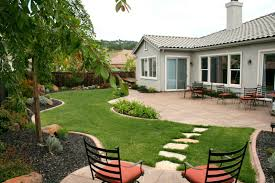 exterior: Exciting Pathway Made Of Stone Elements That Completing Cool Backyard  Ideas Also Coupled With
