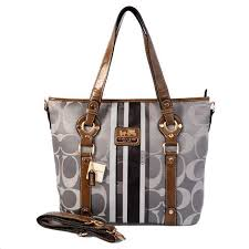 Coach Logo In Signature Medium Grey Totes 20596