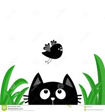 cute flying bird silhouette. Brilliant Silhouette Black Cat Face Head Silhouette Looking Up To Flying Bird Green Grass Dew  Drop For Cute Flying Bird Silhouette I