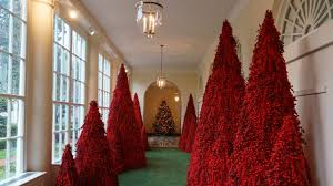 Red Lights White House White House Christmas Decorations Trumps Light National