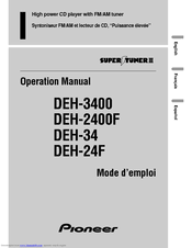 pioneer deh 24f manuals pioneer deh 24f operation manual