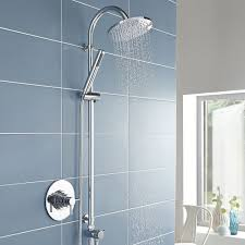 hudson reed tec dual concealed shower valve concentric dual handle chrome 2