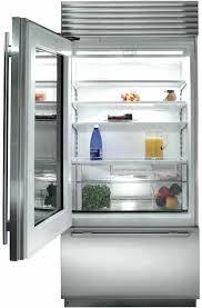glass front refrigerator residential sub zero inch built in bottom freezer refrigerator with sub zero interior