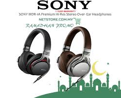 sony over ear headphones. sony mdr-1a premium hi-res stereo over- ear headphones sony over