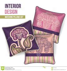 Decorative Pillow Set Set Of Decorative Pillow Royalty Free Stock Images Image 36019489