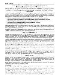 Executive Director Sample Resume Cover Letter Non Profit