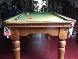 antique 6 3 foot snooker table