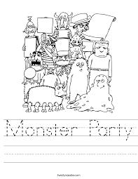 Monster and Alien Worksheets - Twisty Noodle