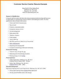 Example Resume For Cashier 9 Cashier Resume