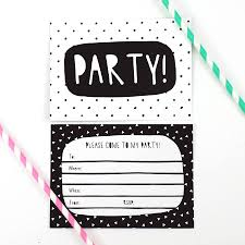 Black And White Party Invitations By Of Life Lemons