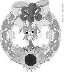 可愛い女の子とヒマワリのイラストのイラスト素材 26174341 Pixta
