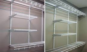 wire closet shelving kits series 4 ft adjule mount home solutions closetmaid accessories a