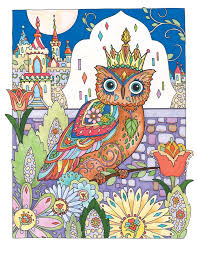 Pin By Debbie Harris On Creative Haven Owls Colouring Book Owl
