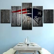 make wall art 5 piece new patriots football canvas painting wall art it make your day make wall art