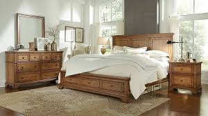 aspen home alder creek panel storage bedroom set in erscotch