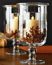 DIY - Hurricane Glass Vase Fall Centerpiece for Only $3.00 (candle holder  vase) | Thanksgiving food, crafts, and more | Pinterest | Centerpieces,  Glass and ...