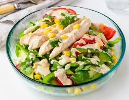 fresh garden salad with chicken. Perfect Fresh Fresh And Tasty Southwest Chicken Salad With Garden R