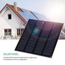 3w 12v mini portable solar panel diy power module battery charger home garden use intl