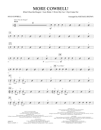 don t fear the reaper sheet music more cowbell solo cowbell sheet music at stantons sheet music