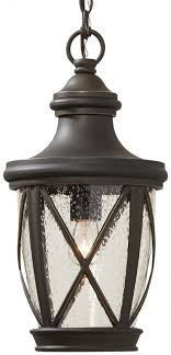 allen roth castine 16 93 in rubbed bronze outdoor pendant light