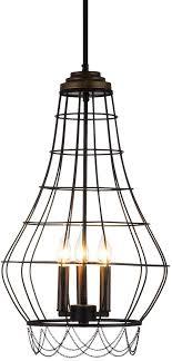 Chandelier FWL, LED Wrought Iron, Retro Minimalist ... - Amazon.com