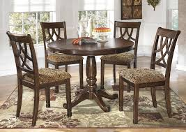 round dining table set for 4 throughout beverly hills furniture bronx ny leahlyn w plan 8