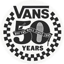 vans logo. as vans celebrates its golden anniversary, take a look back at 50 years of \u201coff the wall\u201d ® moments. logo