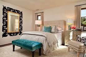 Hollywood Regency Bedroom with big soft double bed